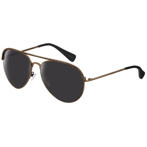 Очки Lanvin с золотистой металлической оправой имитирующей цепочку, фото