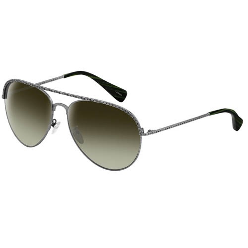 Очки Lanvin с серебристой металлической оправой имитирующей цепочку, фото