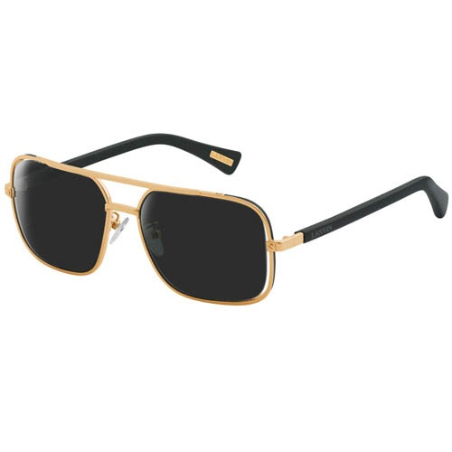 Очки Lanvin с тонкой металлической золотистой оправой, фото