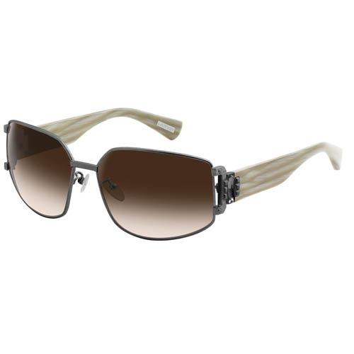 Очки Lanvin с белыми полосатыми дужками и вставками из прямоугольных камней, фото