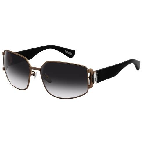 Очки Lanvin с коричневой оправой и черными дужками и вставками в виде белых кристаллов, фото