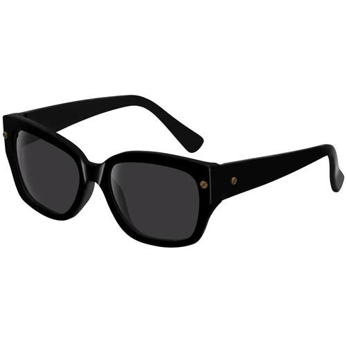 Очки Lanvin с черной оправой и золотистыми винтиками, фото