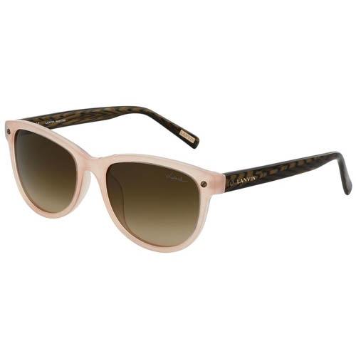 Очки Lanvin нежно-розового цвета с коричневыми дужками, фото