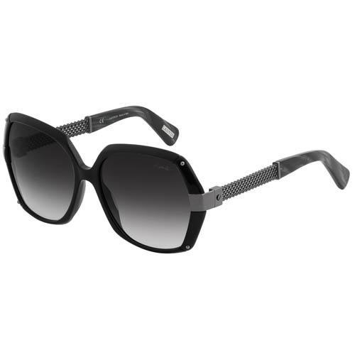 Очки Lanvin черного цвета с металлическими плетенными дужками, фото