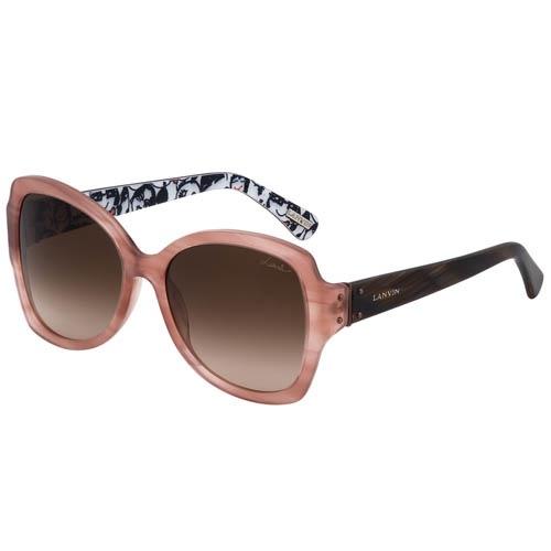Очки Lanvin розовые с узорами на внутренней стороне дужек, фото