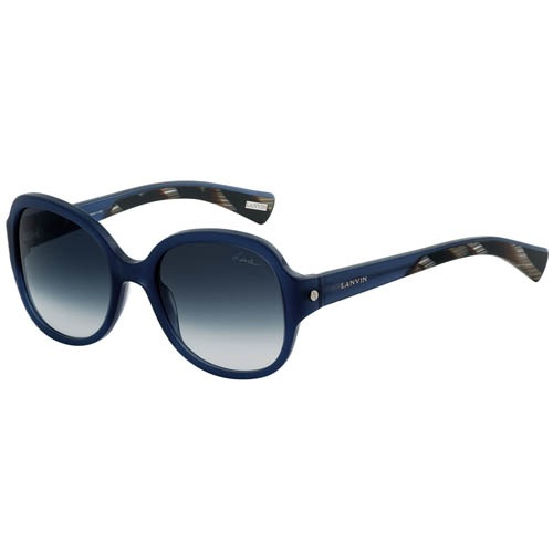 Очки Lanvin круглые синего цвета, фото