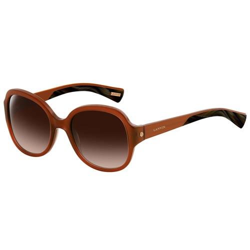 Очки Lanvin круглые оранжевого цвета, фото