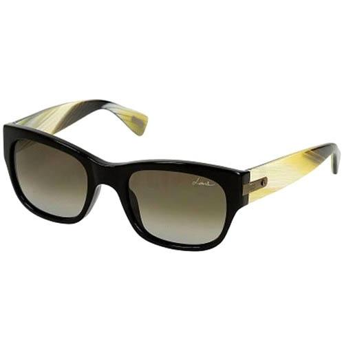 Очки Lanvin черные с широкими желтыми дужками, фото