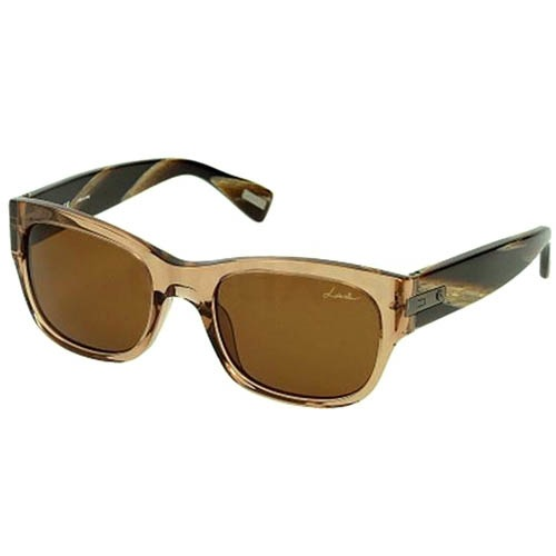 Очки Lanvin с прозрачной бежевой оправой и широкими дужками, фото