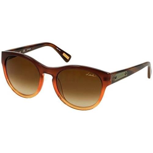 Очки Lanvin с полупрозрачной оранжевой оправой, фото