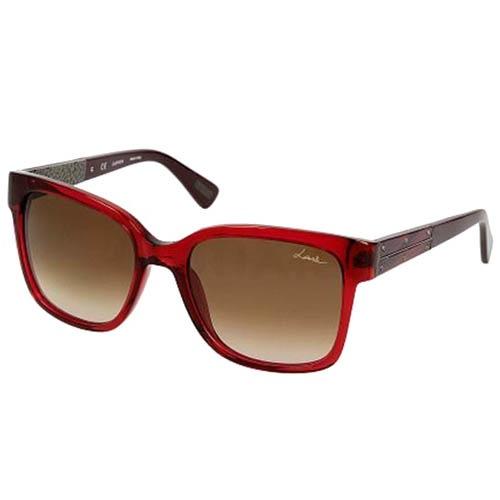 Очки Lanvin с полупрозрачной красной оправой, фото