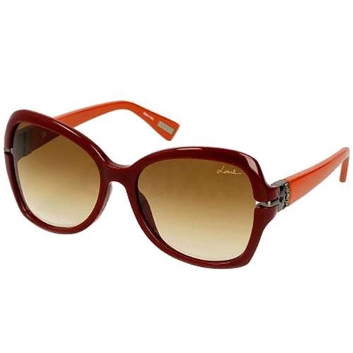 Очки Lanvin красные с оранжевыми дужками, фото