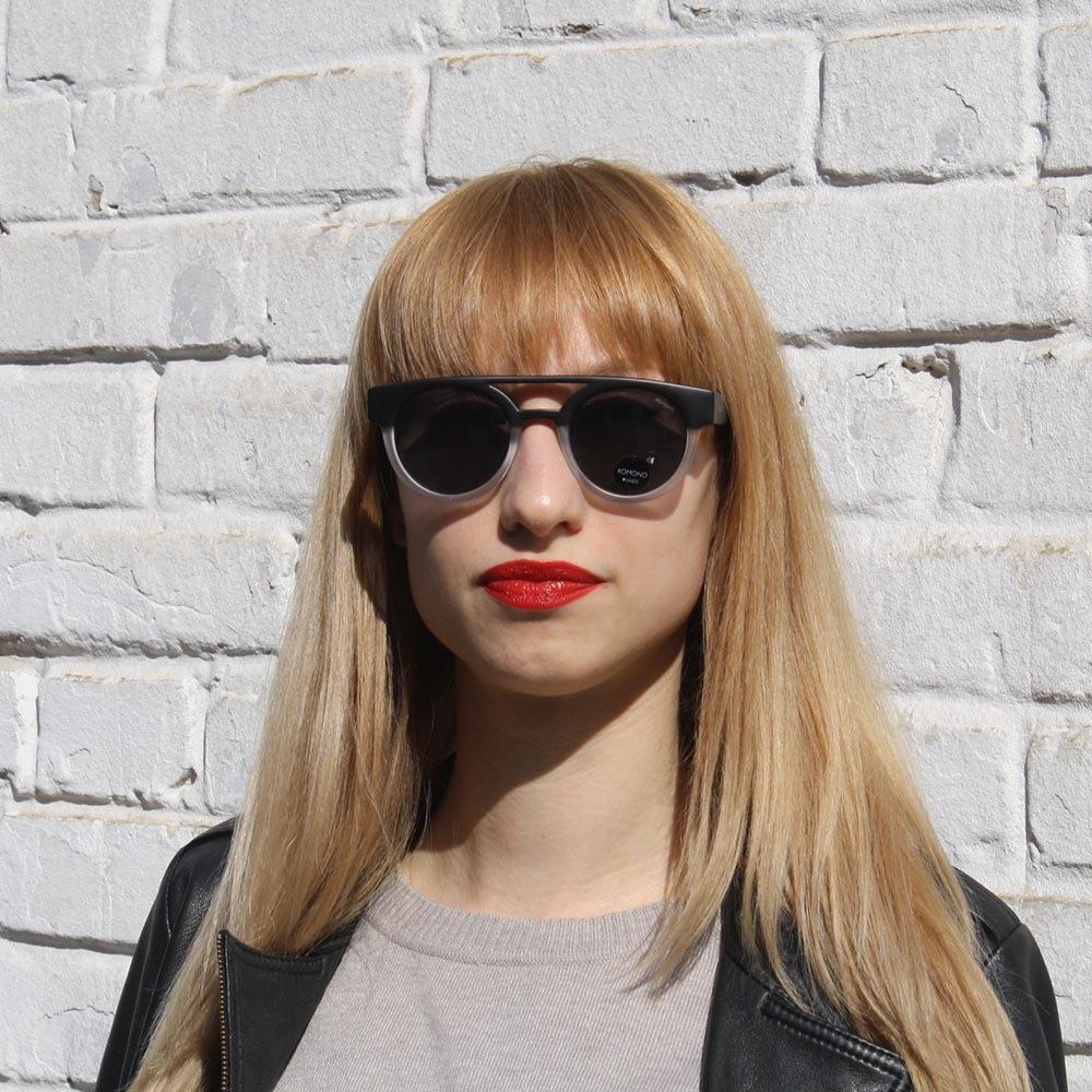 Солнцезащитные очки KOMONO Dreyfuss Matte Black transparent
