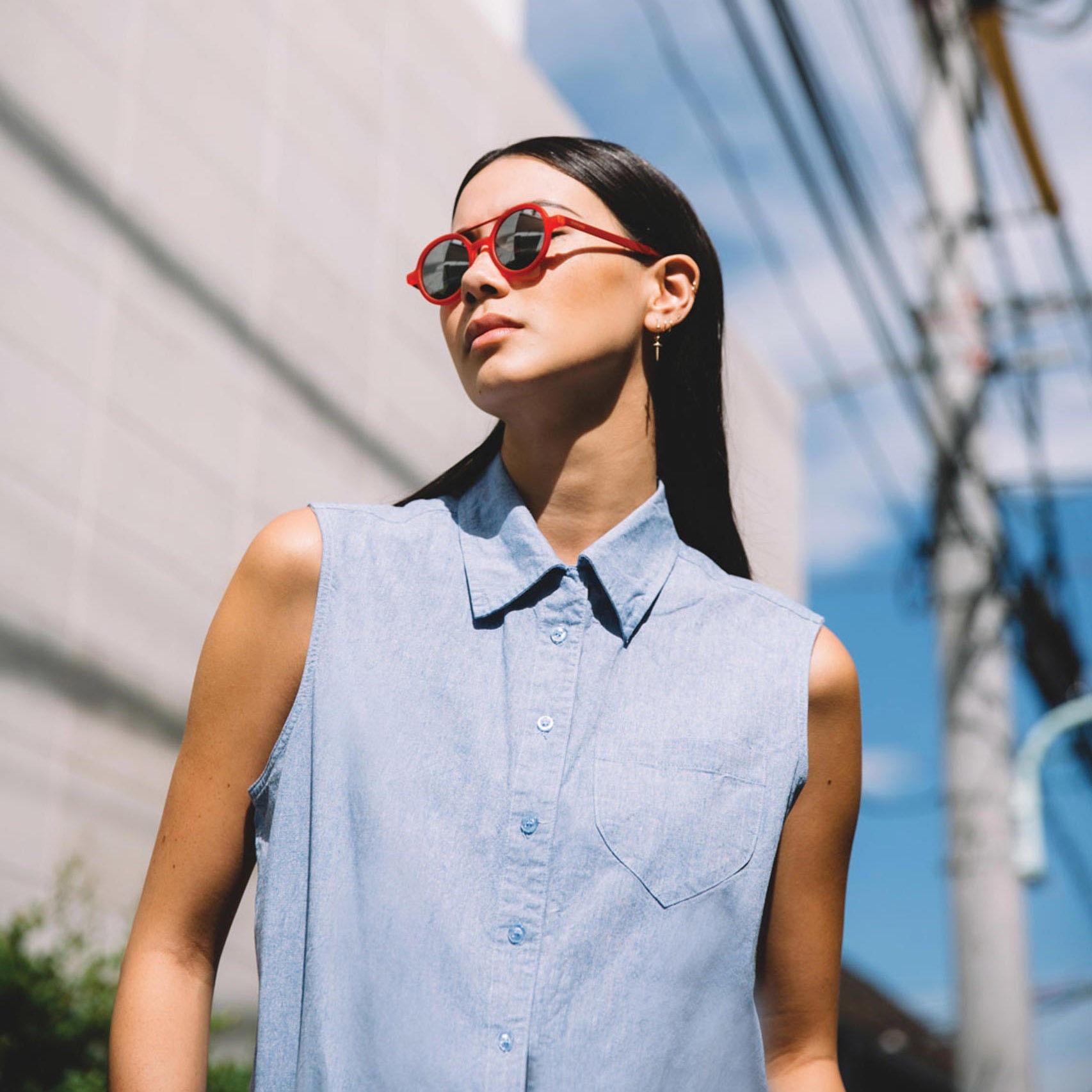 Солнцезащитные очки Komono Vivien Metal Series Red