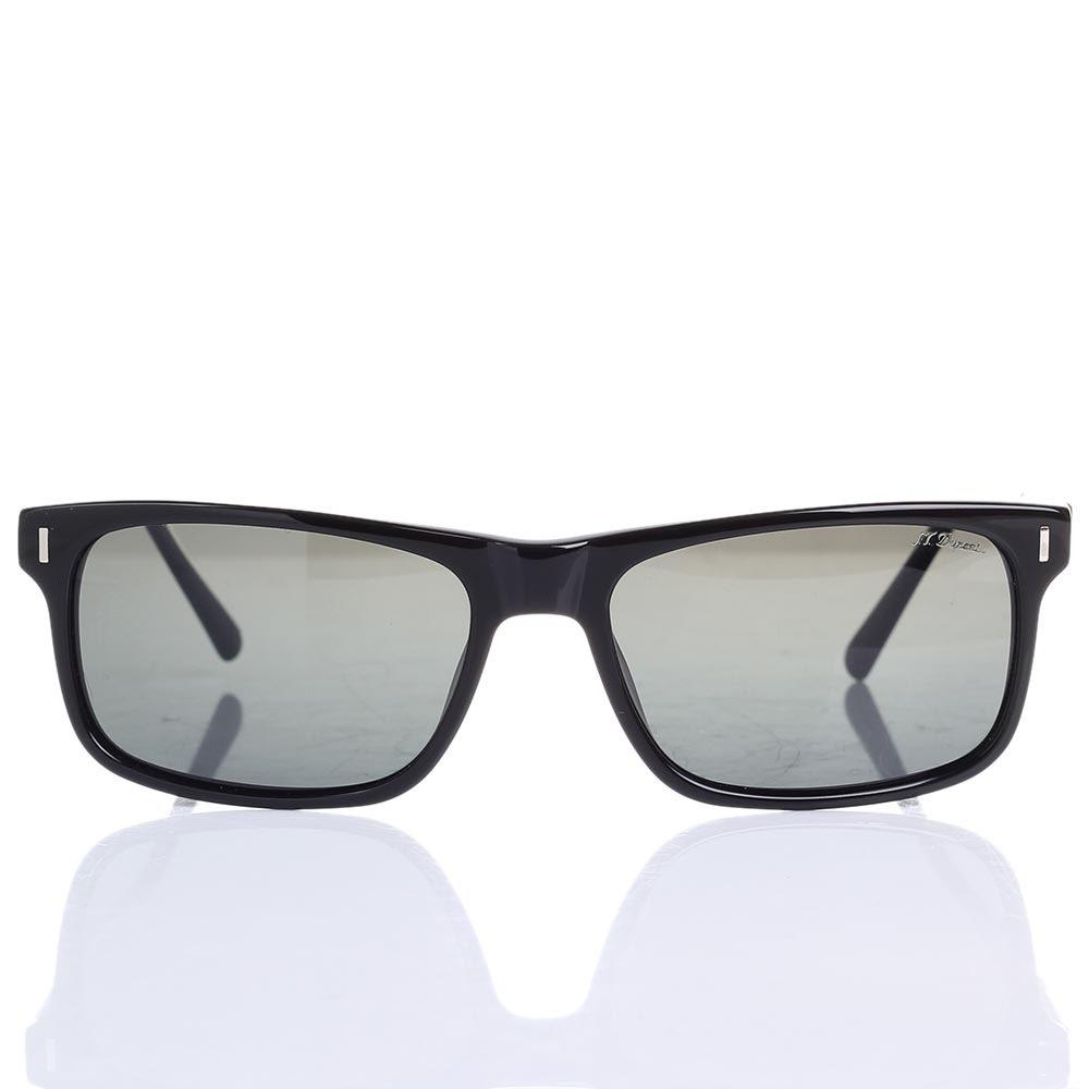 Солнцезащитные очки S.T. Dupont с полупрозрачными серыми линзами