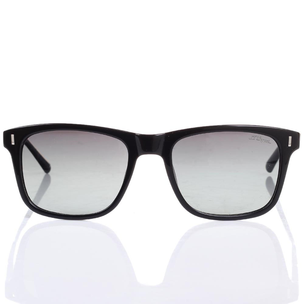 Солнцезащитные очки S.T. Dupont в черной оправе с градиентными линзами