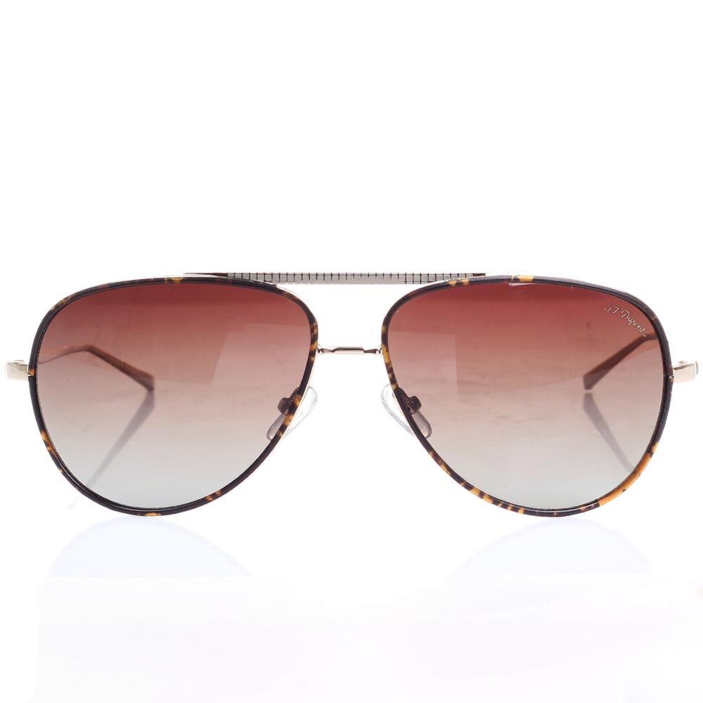 Солнцезащитные очки-авиаторы S.T. Dupont с коричневыми линзами