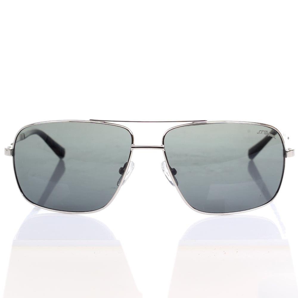 Мужские солнцезащитные очки S.T. Dupont с серыми линзами