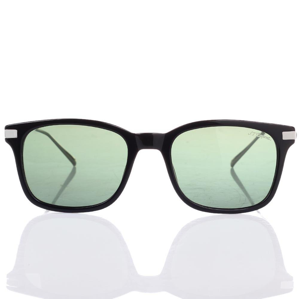 Солнцезащитные очки S.T. Dupont с полупрозрачными зелеными линзами