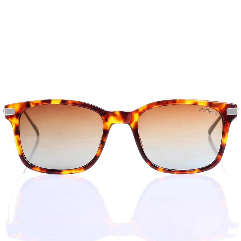 Солнцезащитные очки S.T. Dupont в леопардовой оправе с градиентными линзами