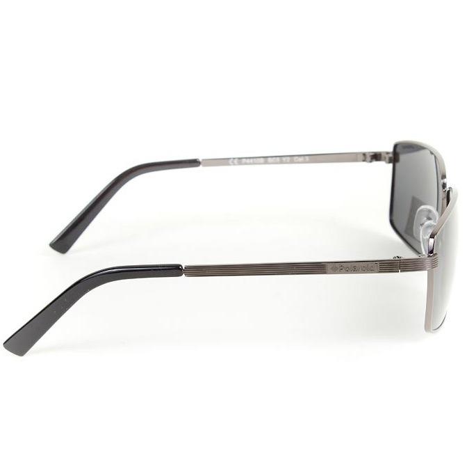 Очки мужские Polaroid черные поляризационные прямоугольные в металлической тонкой оправе