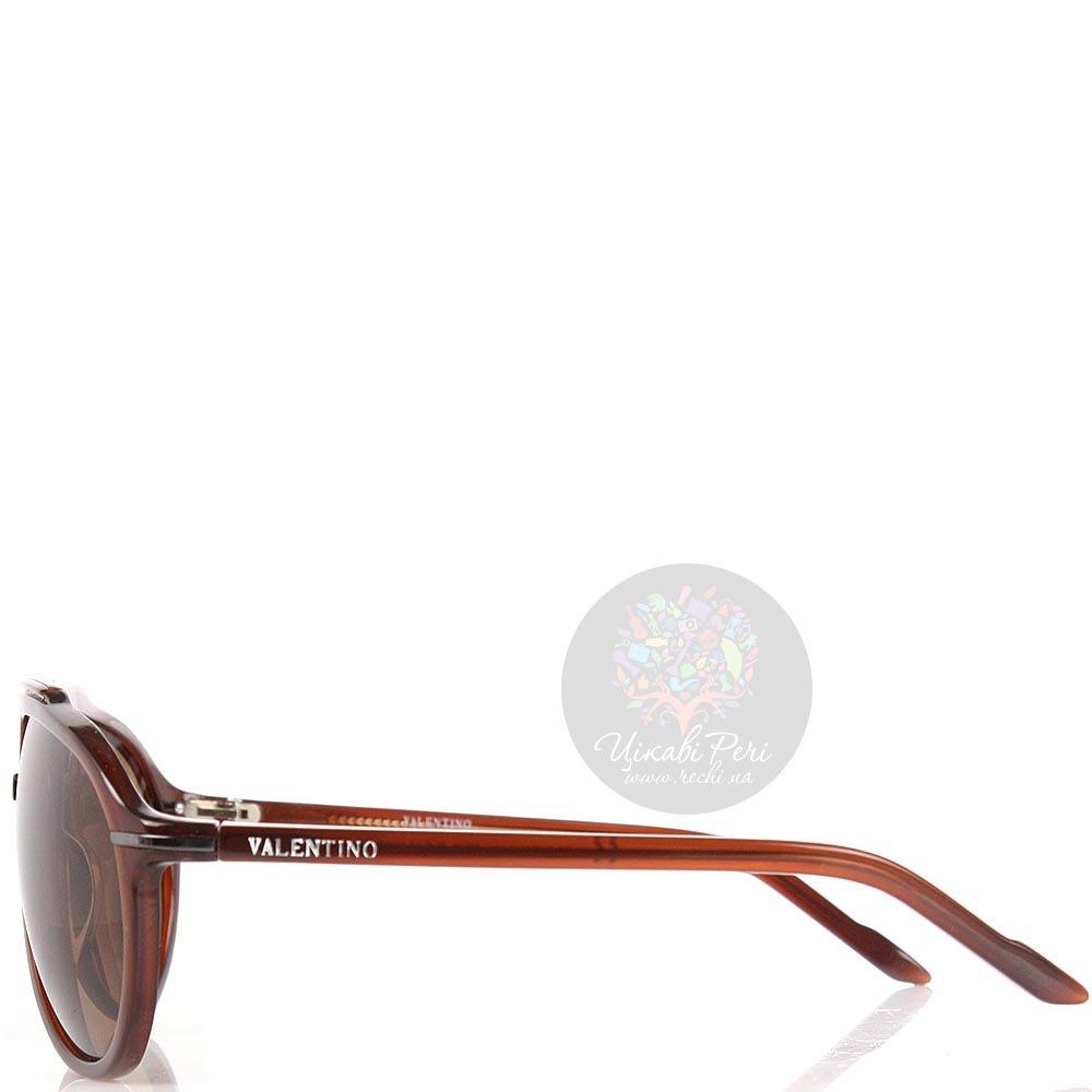 Очки Valentino в темно-коричневой оправе с коричневыми линзами