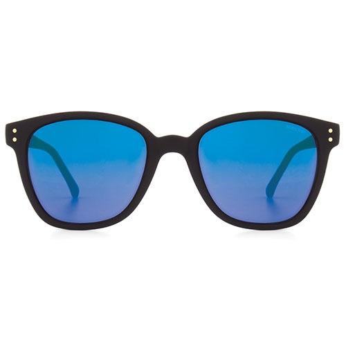 Солнцезащитные очки Komono Renee Black Rubber Blue Mirror, фото