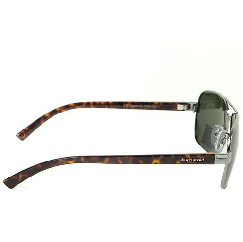 Очки мужские Polaroid Contemporary с зелеными поляризационными линзами и дужками под черепаховую кость, фото