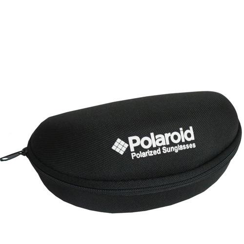 Очки мужские Polaroid черные поляризационные прямоугольные в металлической тонкой оправе, фото