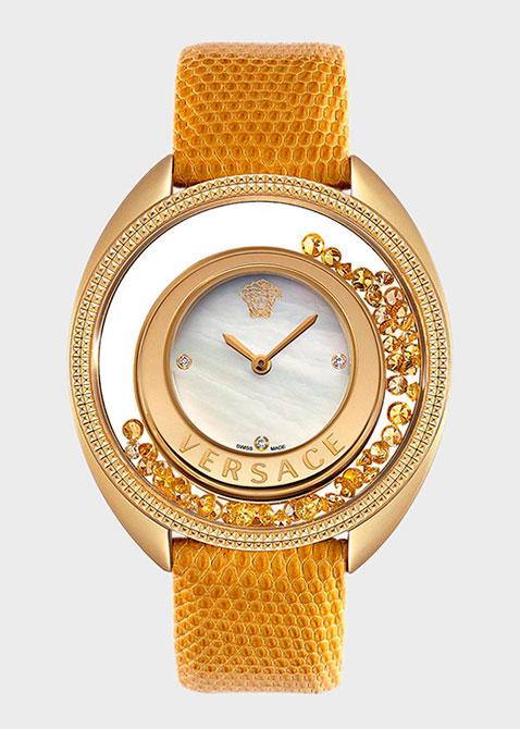 Часы Versace Destiny Spirit с желтыми сапфирами Vr86q721md497s585, фото
