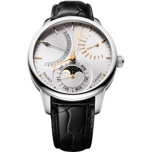 Часы Maurice Lacroix Masterpiece Lune Retrograde MP6528-SS001-130, фото