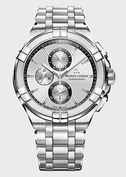 Часы Maurice Lacroix Aikon Chronograph AI1018-SS002-130-1, фото