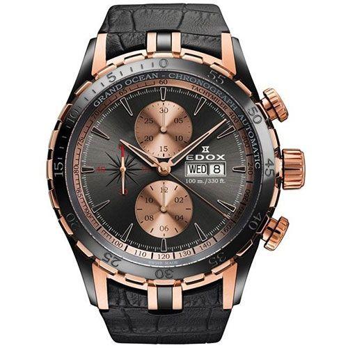 Часы Edox Grand Ocean Chronograph 01121 357RN GIR, фото