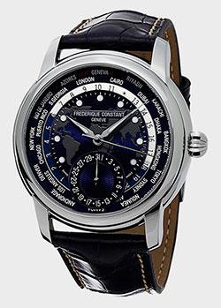 Часы Frederique Constant Manufacture Worldtimer FC-718NWM4H6, фото