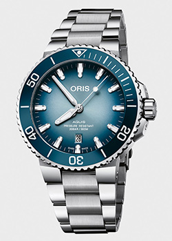 Часы Oris Aquis Lake Baikal Limited Edition 733.7730.4175 Set MB, фото