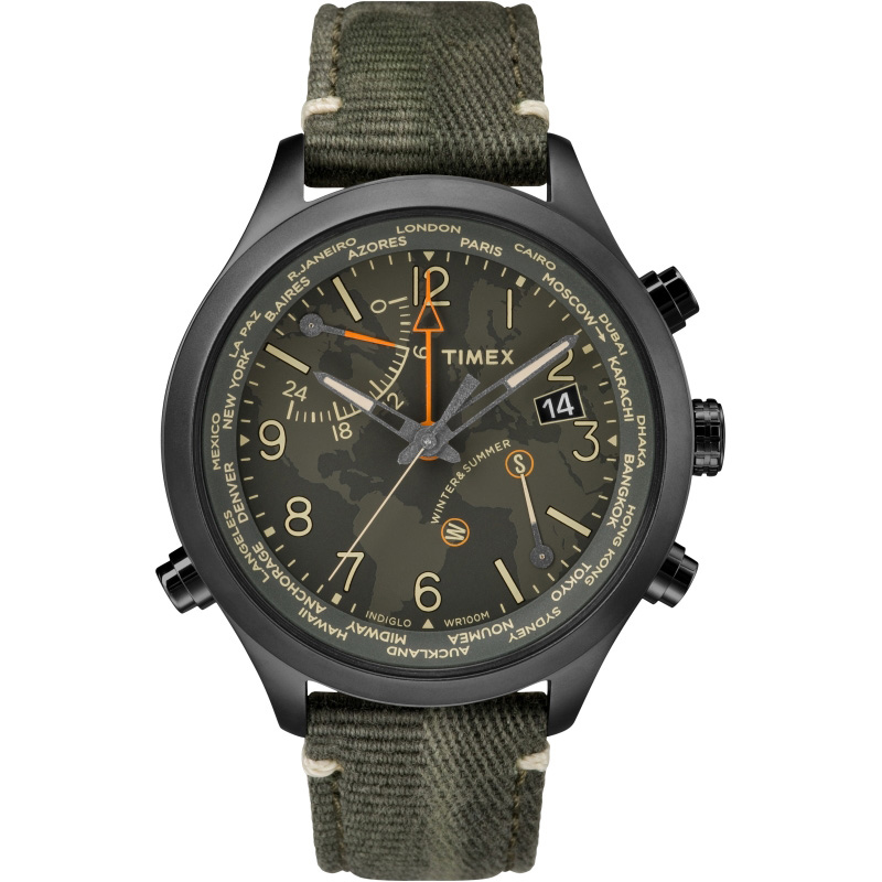 Мужские часы Timex Iq Waterbury World Time Tx2r43200