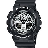 Часы Casio G-Shock GA-100BW-1AER, фото