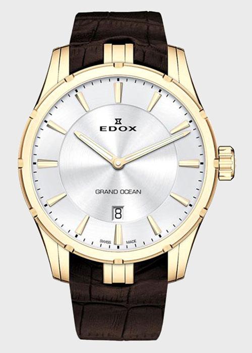Часы Edox Grand Ocean Slim Line Date 56002 37JC AID, фото