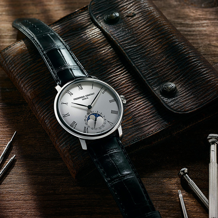 Часы Frederique Constant Slimline Moonphase FC-705WR4S6