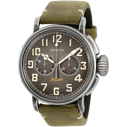 Часы Zenith Pilot Type 20 Chronograph Ton-Up 11.2430.4069/21.C773, фото
