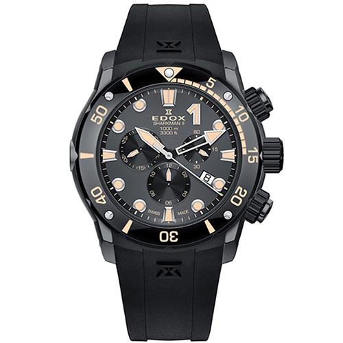 Часы Edox Sharkman II 10234 357GN NINB Limited Edition, фото