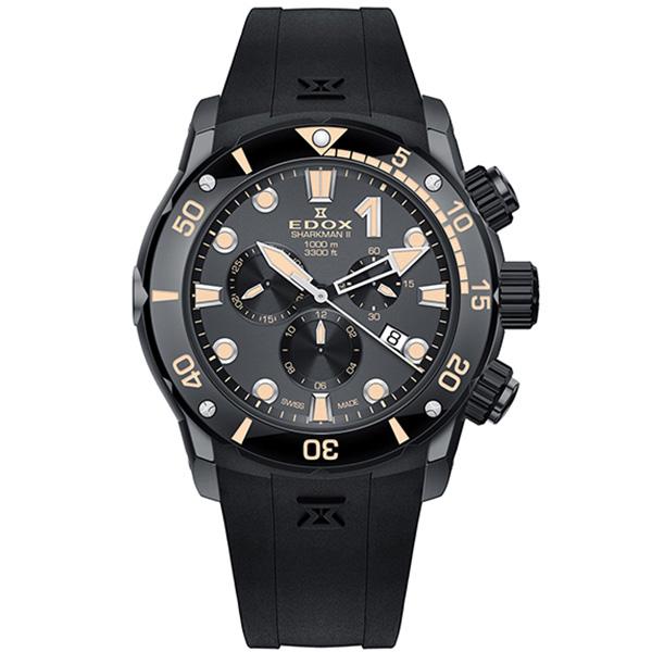 Часы Edox Sharkman II 10234 357GN NINB Limited Edition