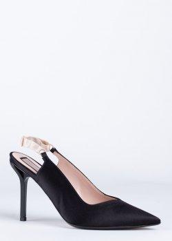 Черные слингбеки N21 на шпильке, фото
