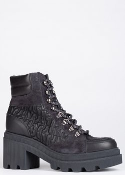 Черные ботинки Voile Blanche на массивной подошве, фото