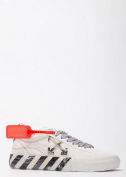 Замшевые кеды Off-White с декором на подошве, фото