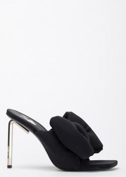 Черные мюли Off-White с объемным бантом, фото