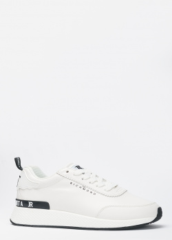 Белые кроссовки John Richmond с надписью на пятке, фото