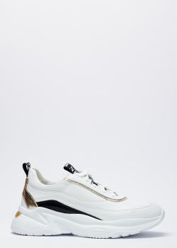 Белые кроссовки Nero Giardini с зеркальными вставками, фото