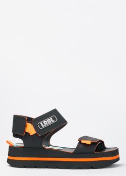 Черные сандалии Loriblu с квадратным носком, фото