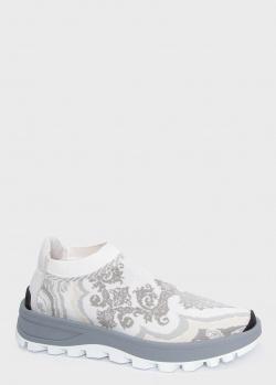 Текстильные кроссовки Etro с орнаментом, фото
